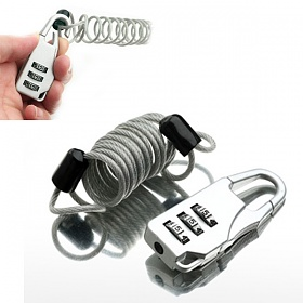 [트래블이지]자물쇠 스프링와이어형  NO.0313