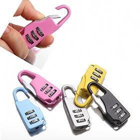 [트래블이지]자물쇠 큐트 긴형 (색상랜덤)NO.0028