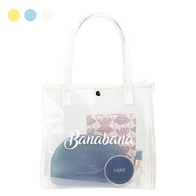 [바나바나] 루시 투명 비치백 HMWKB069LC9 화이트