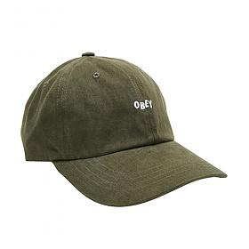 [오베이]OBEY - JUMBLE BAR III 6 PANEL HAT (KHAKI) 자수 뱃지포함 로고 볼캡 야구모자