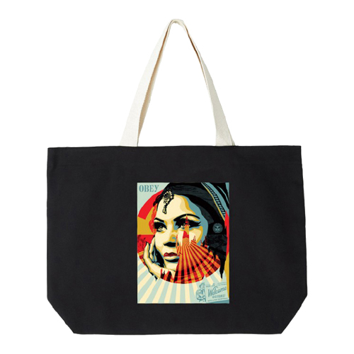 [오베이]OBEY - OBEY TARGET EXCEPTIONS TOTE BAG (BLACK) 토트백 에코백 가방