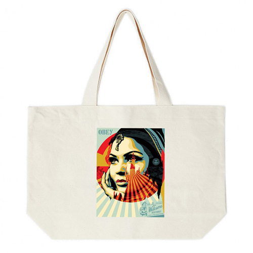 [오베이]OBEY - OBEY TARGET EXCEPTIONS TOTE BAG (NATURAL) 토트백 에코백 가방