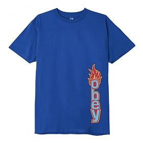 오베이 OBEY FLAME T-SHIRT (ROYAL BLUE) 불꽃 반팔티