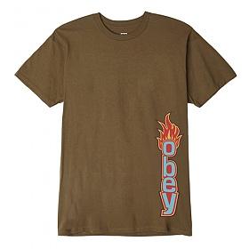 [오베이]OBEY - OBEY FLAME T-SHIRT (TAPENADE) 불꽃 반팔티 티셔츠