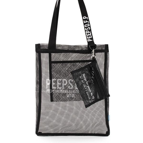 [핍스] PEEPS basic 메쉬 에코백 (black)