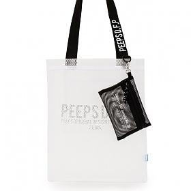 [핍스] PEEPS basic 메쉬 에코백 (white)