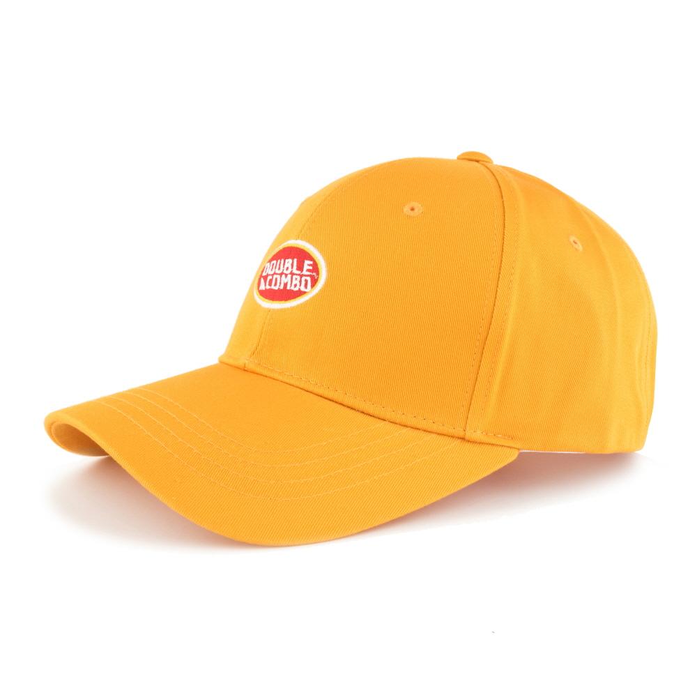 [더블콤보] DOUBLECOMBO - OVAL LOGO BALLCAP (YELLOW) 모자 야구모자 볼캡