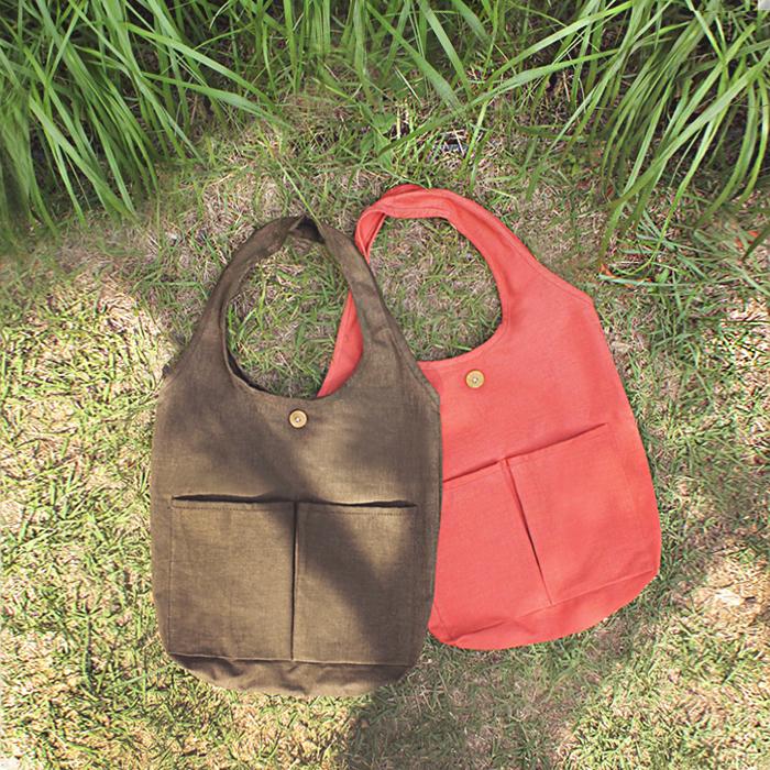 [모노노]MONONO - Market 2 Way Eco Bag  워싱캔버스 마켓백 에코백