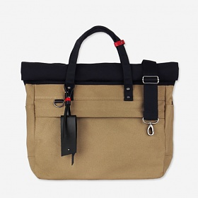 [모노노]MONONO - Roll Up 3 Way Bag Super Oxford (Beige) 토트백