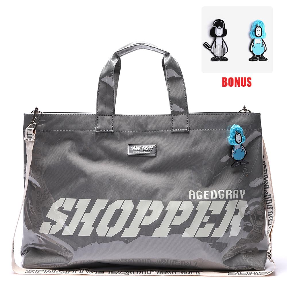 [에이지그레이]AG26FDG PVC 쇼퍼백(그레이)