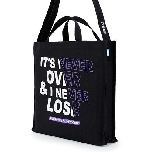[핍스] PEEPS EB never over 2way cross bag(black)