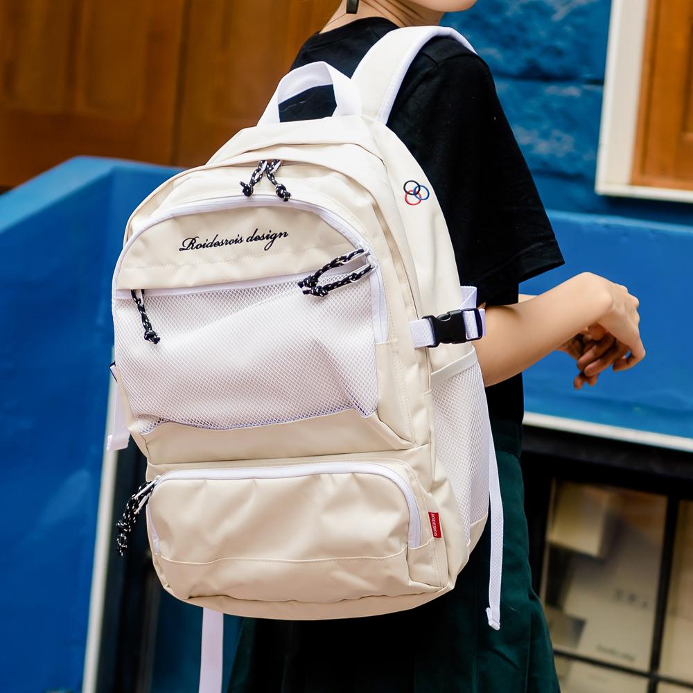 [로아드로아] OMG BACKPACK (IVORY) 가방 백팩 망사백팩 메쉬백팩 학생가방 신학기