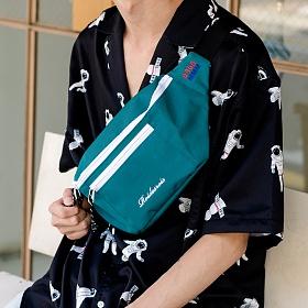 [로아드로아]ROIDESROIS - BOOM WAIST BAG (GREEN) 가방 웨이스트백 힙색