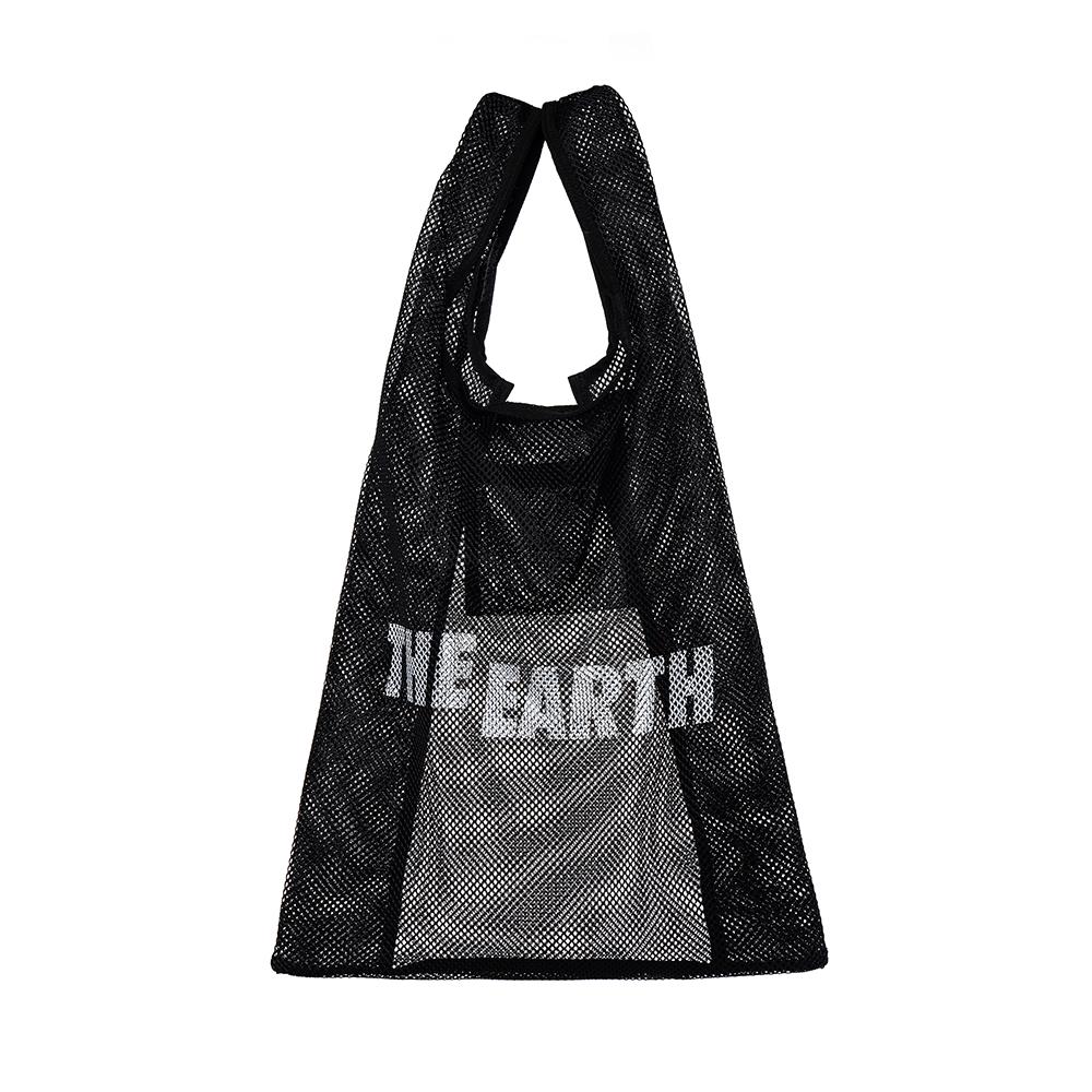 [디얼스]THE EARTH - MESH VACANCE BAG - BLACK 메쉬백 메쉬가방 망사가방 그물가방 에코백