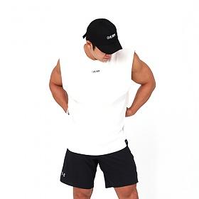 [원알엠]ONERM TANK BASIC - WHITE 민소매 나시 헬스 피트니스 스포츠