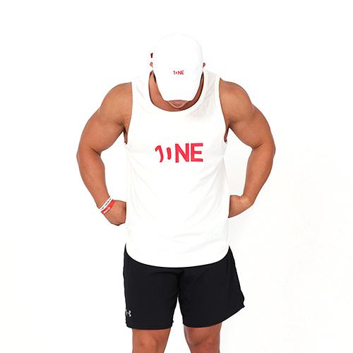 [원알엠]ONERM SLEEVELESS ONE - WHITE 민소매 나시 헬스 피트니스 스포츠
