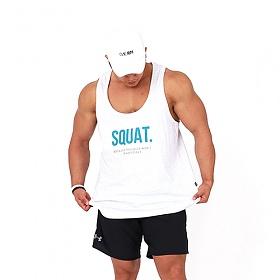 [원알엠]ONERM U TANK SQUAT - WHITE SLUB 민소매 나시 헬스 피트니스 스포츠