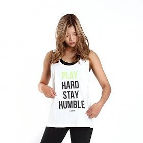 [원알엠]ONERM U TANK PLAY HARD - WHITE WMS 여성 민소매 나시 헬스 피트니스 스포츠