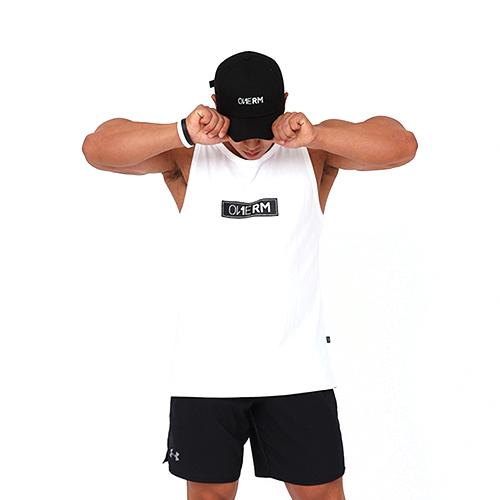 [원알엠]ONERM SLEEVELESS BOX - WHITE 민소매 나시 헬스 피트니스 스포츠