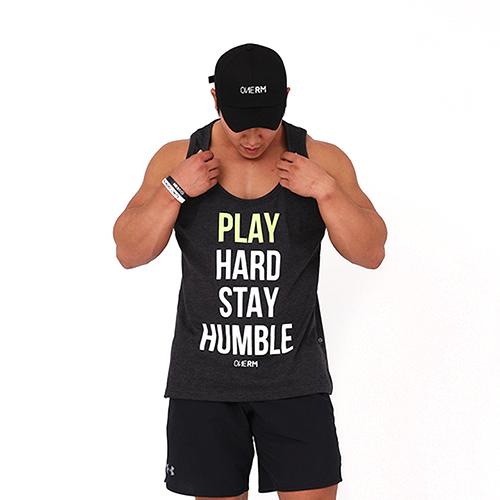 [원알엠]ONERM U TANK PLAY HARD - CHARCOAL 민소매 나시 헬스 피트니스 스포츠