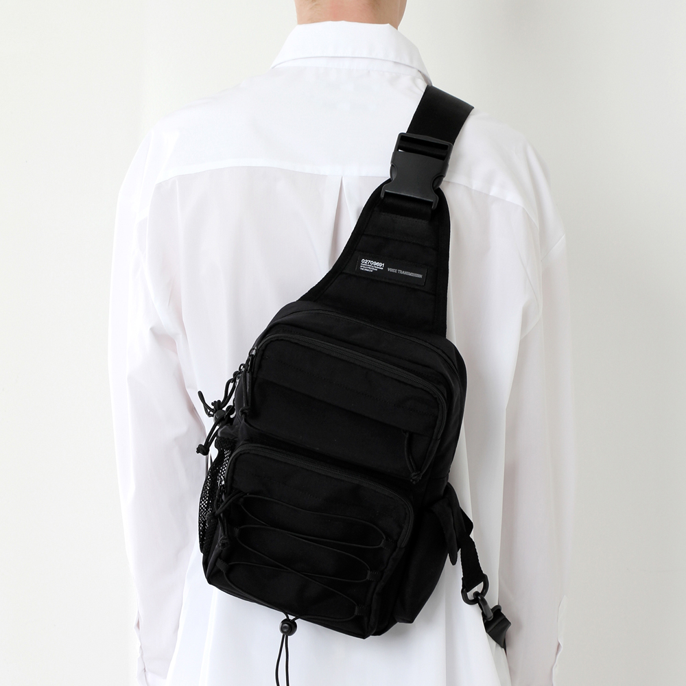 [피스메이커]CORDURA TECH SLING BAG (ALL BLACK) 슬링백