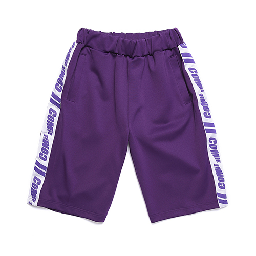 [꼬미엔조] COMIE SIDE TRACK SHORT PANTS (PURPLE)