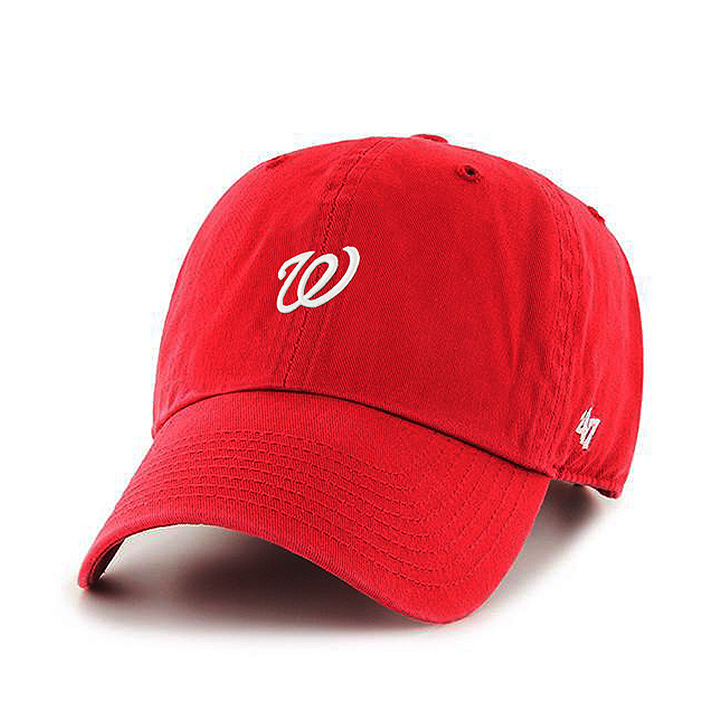 47Brands 클린업 워싱턴 네셔널스 6패널 볼캡 - Red 야구모자