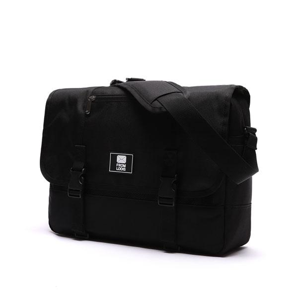 [로디스]LODIS - COMFORTABLE MESSENGER BAG - ALL BLACK 메신저백