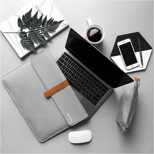 마우스 패드 증정! [탐탁]tomtoc A19[12.3인치/실버그레이]맥북 서피스프로 노트북 파우치 슬리브 클러치 탐탁코리아 정품
