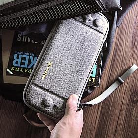 [탐탁]tomtoc NS[그레이]닌텐도 스위치 스트랩 슬림 하드 케이스 파우치 탐탁코리아 정품