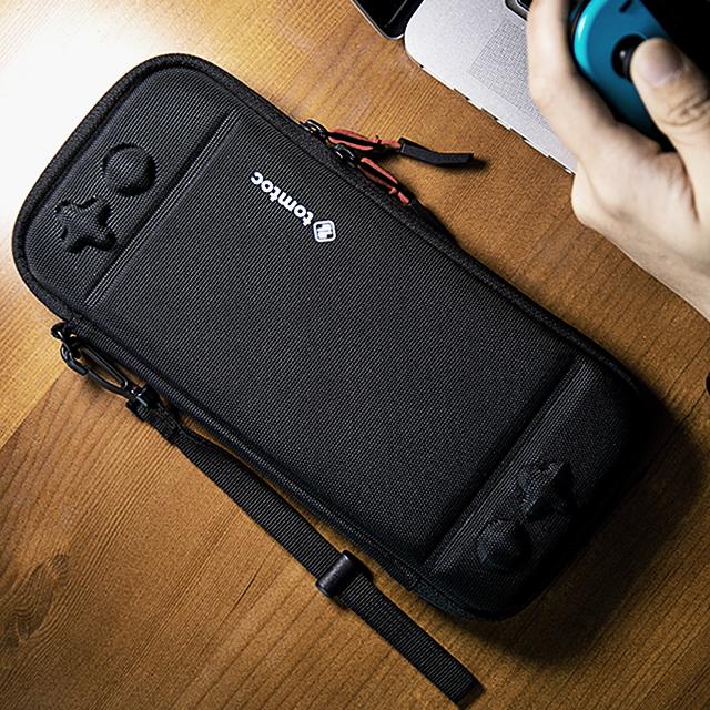 [탐탁]tomtoc NS[블랙]닌텐도 스위치 스트랩 슬림 하드 케이스 파우치 탐탁코리아 정품