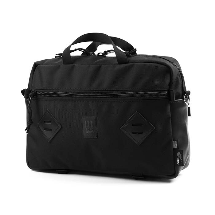 [토포디자인]TOPO DESIGNS - MOUNTAIN BRIEFCASE BALLISTIC BLACK/BLACK LEATHER TDMB014 브리프케이스