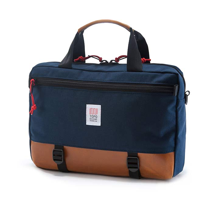 [토포디자인]TOPO DESIGNS - COMMUTER BRIEFCASE BROWN LEATHER/NAVY TDCMB016 브리프케이스