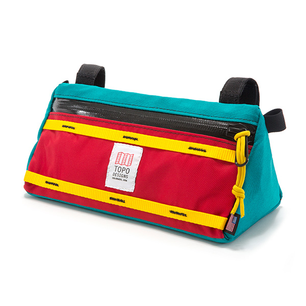[토포디자인]TOPO DESIGNS - BIKE BAG TURQUOISE/RED TDBBS017 자전거 파우치