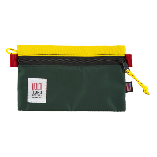 [토포디자인]TOPO DESIGNS - ACCESSORY BAGS - MEDIUM SUNSHINE/FOREST TDAB015 파우치