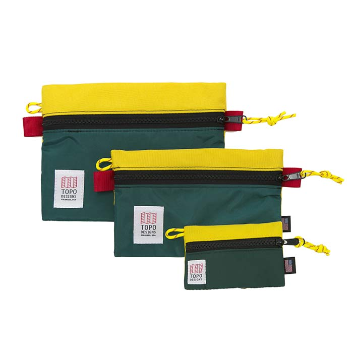 [토포디자인]TOPO DESIGNS - ACCESSORY BAGS - LARGE SUNSHINE/FOREST TDAB015 파우치