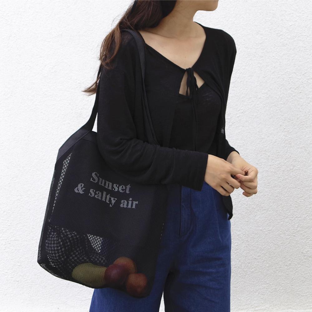 [아틱머메이드] sunset mesh bag - 썬셋 메쉬 백 (블랙)