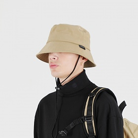 [피스메이커]PIECE MAKER  - SHIRRING NYLON BUCKET HAT (BEIGE) 버킷햇
