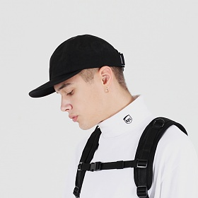 [피스메이커]PIECE MAKER  - SHIRRING NYLON 6P CAP (BLACK) 볼캡