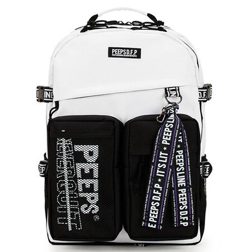 [사은품증정] [핍스]PEEPS advance backpack(white) 어드밴스 백팩