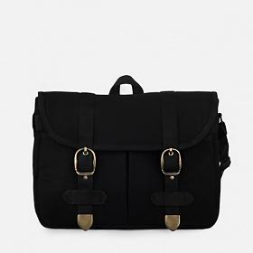 [모노노] MONONO - Super Oxford Vintage Mail Bag - All Black 캔버스 숄더백 크로스백 메일백