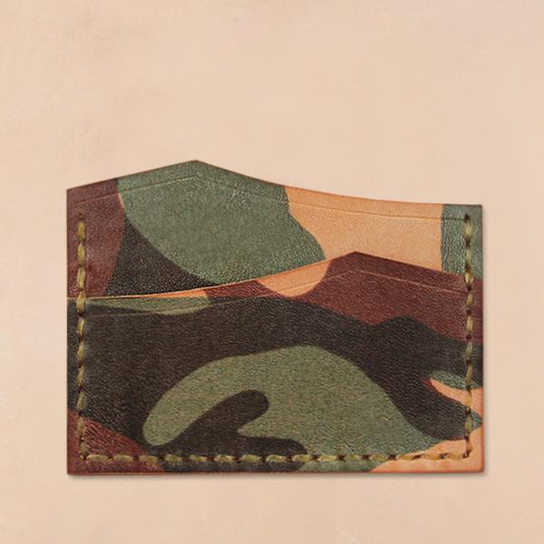 [테리우드] 손바느질 마운틴 카드지갑 (이태리 천연소가죽) - 카모플라쥬 ( Camouflage )