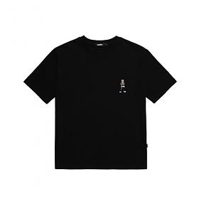 [참스] CHARMS Savage Kermit Small logo T BK 커밋 로고 티셔츠 반팔티