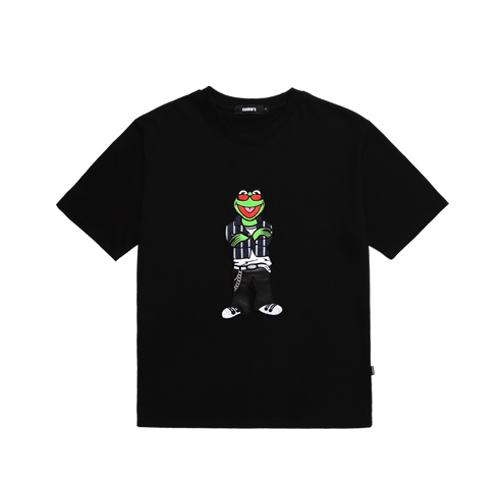 [참스] CHARMS Savage Kermit logo T BK 커밋 로고 티셔츠 반팔티