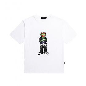 [참스] CHARMS Savage Kermit logo T WH 커밋 로고 티셔츠 반팔티