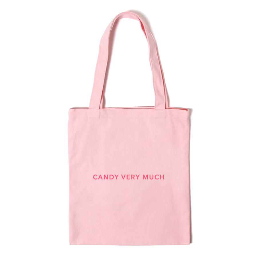 [캔디베리머치]로고 에코백 - 핑크