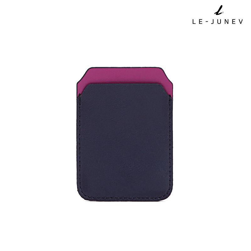 [리쥬네브]리쥬 카드지갑 L0189 네이비+퍼플