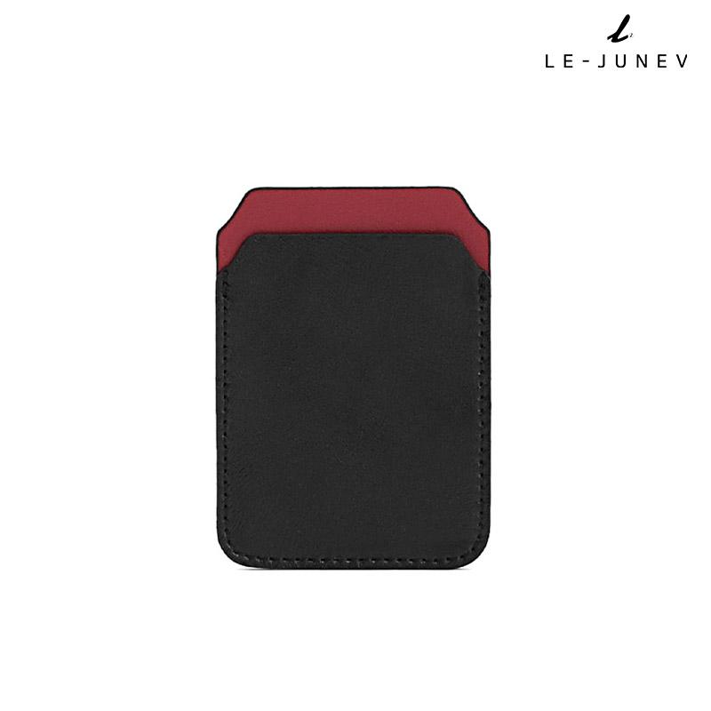 [리쥬네브]리쥬 카드지갑 L0189 블랙+레드