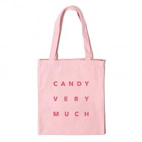 [캔디베리머치]네모 로고 에코백 - 핑크