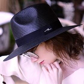 [슬리피슬립]SLEEPYSLIP - [unisex]SLEEPING BLACK PANAMA HAT 파나마햇